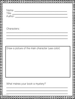 Mystery Book Report