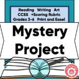 Mystery Project-Based Study: Book Report, Box Display, Artifacts, Scoring Rubric