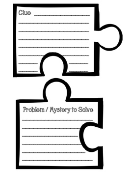 Mystery Book Report - Puzzle Poster Book Project for grades 3-6