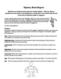 Mystery Book Report- Story Skeleton- Directions and Rubric