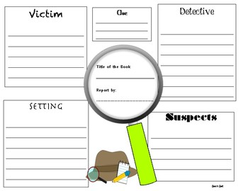 thermal imaging report template - mystery book report template by zeva 39 s zest teachers pay