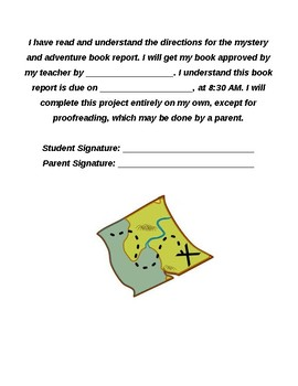 Mystery Book Report and Rubric