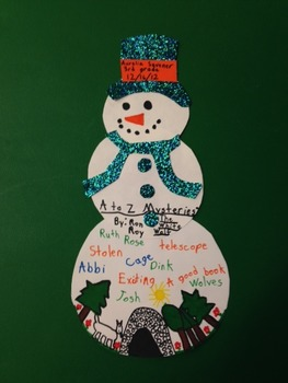 Mystery Book Report with Snowman Visual Presentation Project
