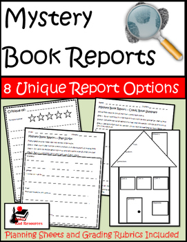 Mystery Book Reports Package - 8 Unique Options