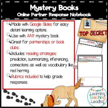 Mystery Unit Interactive Notebook Google Slides Distance Learning