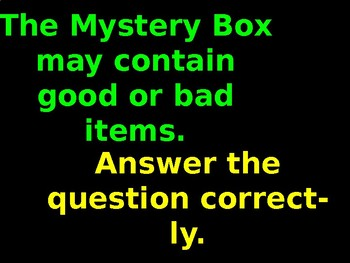 Mystery Box Game (Adaptable Template)