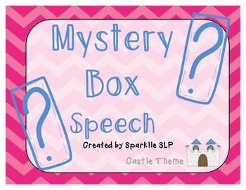 Mystery Box Speech {Castle Theme}
