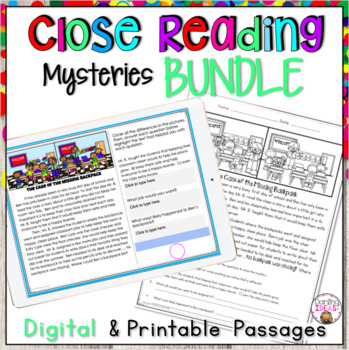 CLOSE READING PASSAGES BUNDLE OF MYSTERIES SPRING, EASTER AND MORE