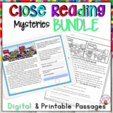 CLOSE READING PASSAGES BUNDLE OF MYSTERIES HALLOWEEN THANK