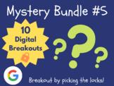 Mystery Bundle #5: 10 Digital Breakouts (Back to School, Early Finishers)