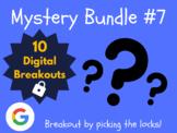Mystery Bundle #7: 10 Digital Breakouts (Back to School, Early Finishers)