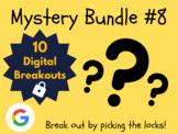 Mystery Bundle #8: 10 Digital Breakouts (Escape Room, Early Finishers)