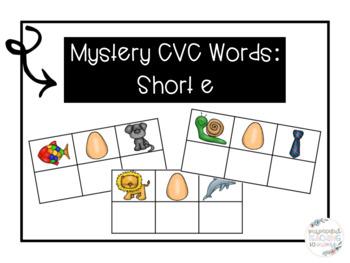 Mystery CVC Word- Short E