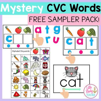 Mystery CVC Words Center SAMPLER PACK