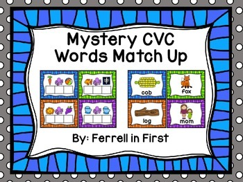 Mystery CVC Words Match up!