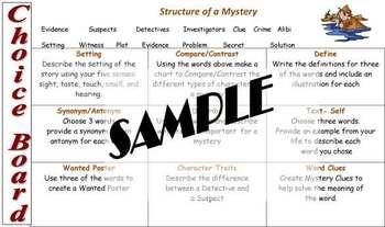 Mystery Choice Board