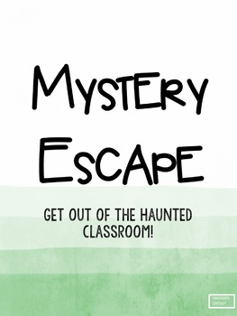 Mystery Classroom Escape Fractions Edition