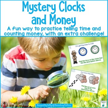 Mystery Clocks and Money- with an Extra FUN Challenge!