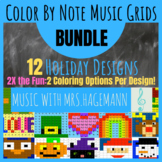 Mystery Color By Note Music Grid BUNDLE