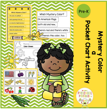 Mystery Color a Pocket Chart Activity