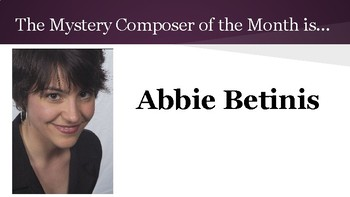 Mystery Composer of the Month - Abbie Betinis