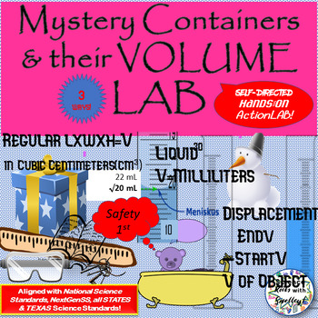 Mystery Containers and their Volume-- 3 ways- Regular vs Liquid vs Displacement