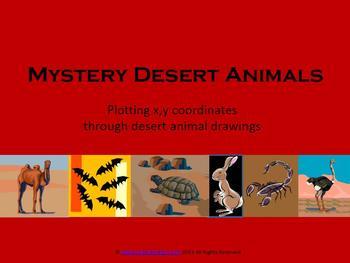 Mystery Desert Animal x,y coordinates
