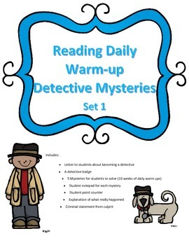 Mystery Reading Activity: Daily Warm-up Case Files for Reading Set 1