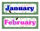 Mystery/Detective Themed Calendar Months & Numbers