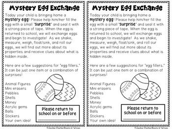 Mystery Egg Math and Science Investigations (Easter STEM)