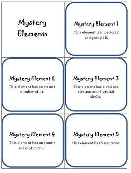 Mystery Elements Activity