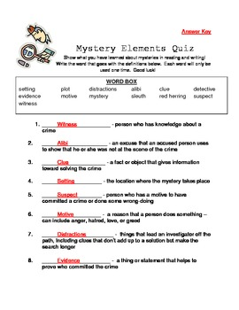Mystery Elements Quiz