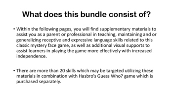 Guess Who? Skill Expansion Bundle