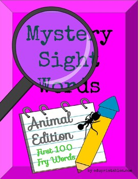 Mystery First 100 Fry Sight Words - Animal Edition