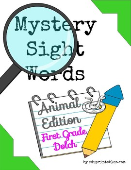 Mystery First Grade Dolch Sight Words - Animal Edition