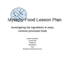 Mystery Food Lesson Plan