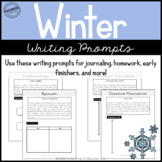 Free Winter Writing Prompts | Grades 3-5