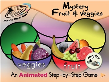 Mystery Fruit & Veggies - Animated Step-by-Step Game - Regular