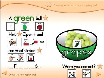 Mystery Fruit & Veggies - Animated Step-by-Step Game - SymbolStix