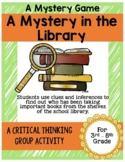 Library Mystery Game End of the Year Activity Making Inferences