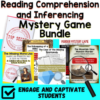 Mystery Game BUNDLE-Critical Thinking and Inferences Great