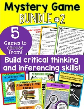 Mystery Game BUNDLE #2 - Making inferences and building connections!