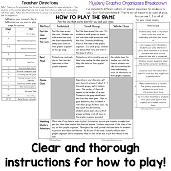 Mystery Game - Ice Breaker Activity - Inferencing and Critical Thinking