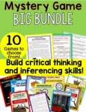 Mystery Game Big BUNDLE 10 Mysteries! Make inferences and build connections!