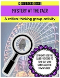 Mystery Game - Mystery at the Fair - Making inferences and building connections