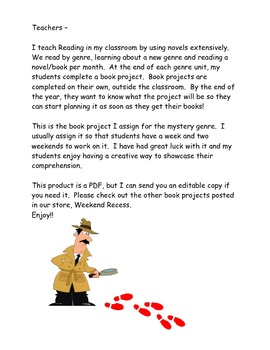 Mystery Genre Book Project