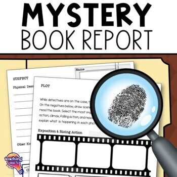 "Mystery Genre Book Report ""Case File""  Project, Rubric, & Introductory Activity"