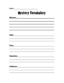 Mystery Genre Unit