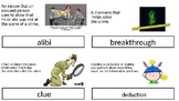 Mystery Genre Vocabulary Words PPT -Bilingual Spanish and English