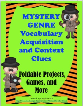 Mystery Genre Vocabulary and Context Clues:  56 Words with